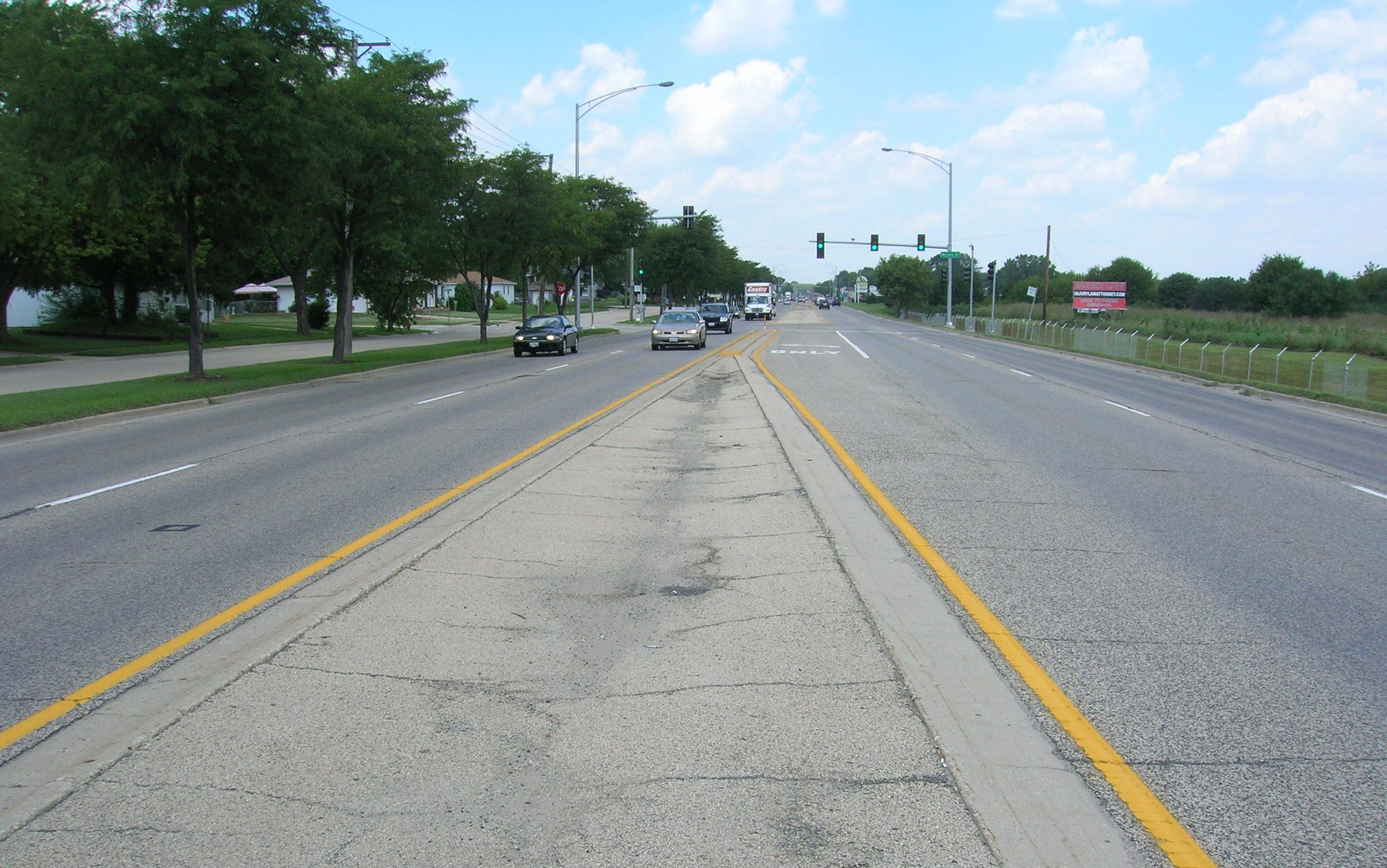 Route 53 Before Street Islands