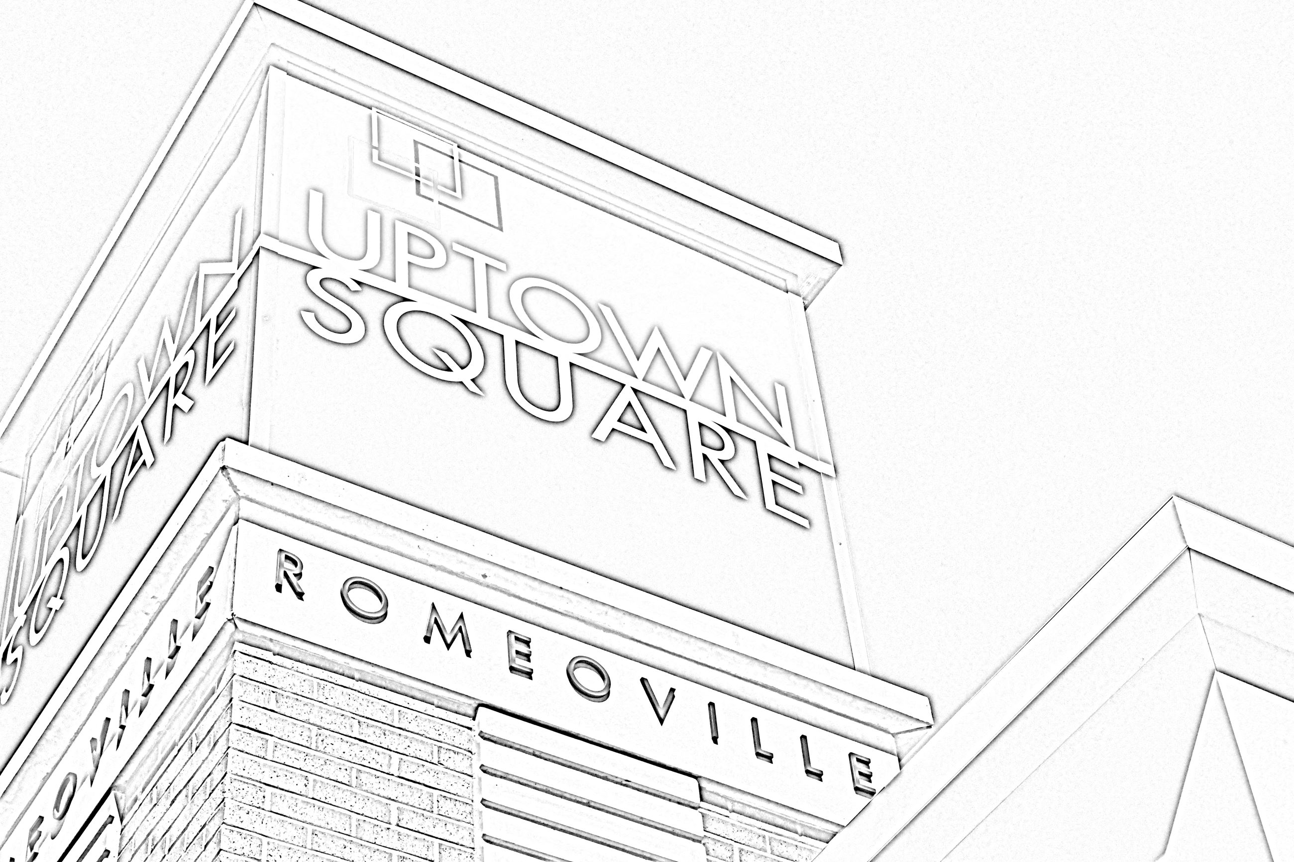 Uptown Square Coloring Page